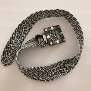 Vintage Braided Metallic belt
